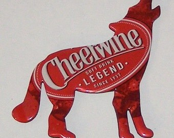 COYOTE / WOLF Magnet - Cheerwine Soda Can