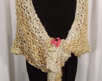 shades of corn wrap--Goldilocks Knit Shawl