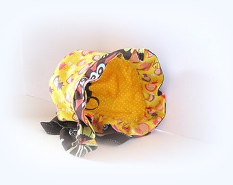 Reversable Bonnet cap, fun baby bonnet, gift for baby