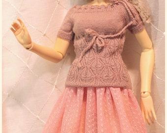 Delf Feeple60 SD13 SDGr Girl - Pink Mesh Skirt - for abjd, bjd, Super Dollfie CP type Girl Doll
