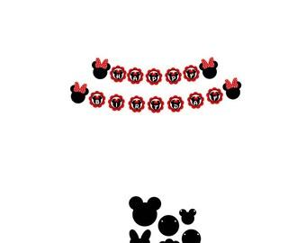 Minnie Mouse Banner Svg, Banner Svg, Disney Svg, Minnie Mouse Svg, Minnie Birthday Svg, Happy Birthday Svg, Mickey Mouse Svg