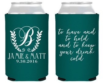 Personalized Wedding Favors, Wedding Favors, Custom Wedding Favors, Monogrammed Favors, To Have and To Hold, Wedding Can Coolers, 1408