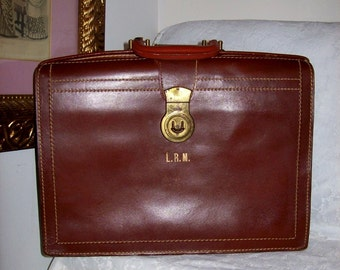 Vintage Brown Split Cowhide Leather Briefcase Only 31 USD