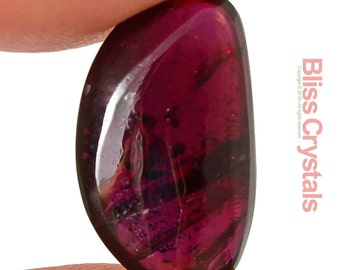 1 XS Gem RODOLITE GARNET Flat Tumbled Stone Gemstone Jewelry & Crafts Healing Crystal and Stone #SP4
