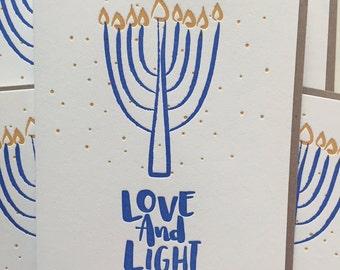 Hanukkah Cards / Hanukkah Holiday Cards / Letterpress Hanukkah Cards - Chanukkah Cards / Menorah Cards / Holiday Cards / Hanukkah Greetings