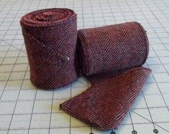 Brown/Rust and Black Herringbone Wool Winingas - Viking Leg-Wraps