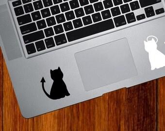 TP - Cat Angel and Devil - Vinyl Trackpad Tablet Decal Sticker - Copyright © Yadda-Yadda Design Co. (Variations Available)