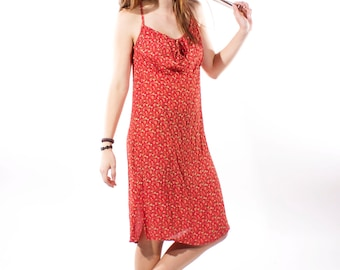 XMAS in JULY SALE : 1990s red grunge dress