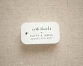 With Thanks Wedding Favor Tags - Personalized Gift Tags - Bridal Shower - Thank you tags - Party Tags - Favor Bag Tag (Item code: J561)
