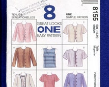 McCalls 8155 Tank & Tee Shirt Bolero Jackets Pattern Sizes Medium 12/14 UNCUT