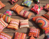 RESERVED FOR AKOSUA  25 Textile Pockets HandMade with Upcycled Hmong Hilltribe Embroidery