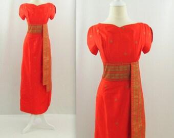 1950s Hawaiian Pinup Dress - Vintage Summer Cocktail Dress by Richard Douglas
