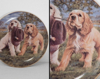 Franklin Mint Plate 1990s Hat Trick Jim Killen HA6498 Spaniel Dogs Last Chance Sale