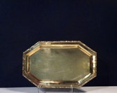 Vintage Solid Brass Rectangular Bar/Cocktail Tray