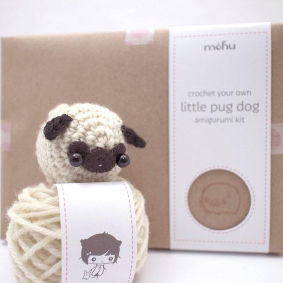 Amigurumi Flowers Free Patterns : crochet kit amigurumi pug dog by mohustore on Etsy