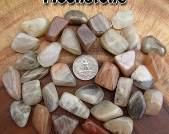 Moonstone (medium) tumbled stone for crystal healing - Natural Earth Tones