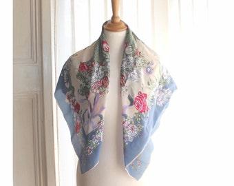 Vintage Nina Ricci floral scarf.