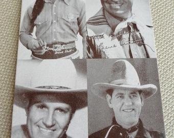 B973)  Vintage Cowboy Arcade Cards  Tom Tyler original Captain Marvel Gene Autry Leo Maloney