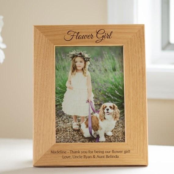 Flower girl picture frame