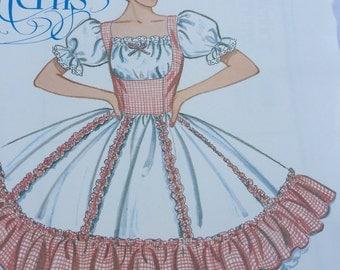 Square Dancing Costume Pattern - Sizes 6-8-10 German October Fest - Bavarian Bar Maid Underskirts