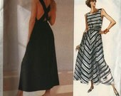 PATTERN Vogue 2289 Fitted flared dress or pantdress round neck crossover back straps side seam pockets Size 12-14-16 Ralph Lauren (uncut)