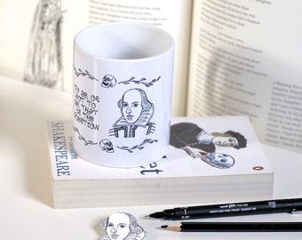 William Shakespeare Mug Shakespeare Mug Hamlet Mug Book Mug Book Lover