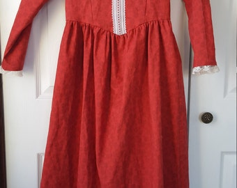 Little Girls Pioneer Dress and Bonnet Size 7