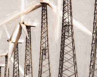 Abstract photography, Wind farm, Wind turbines, Environmental photography, Wind energy, Wind power, Alternative energy source