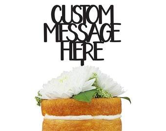 Custom Cake Topper - Block Letters