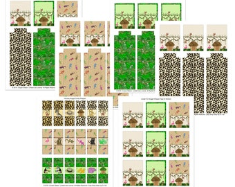 Digital Printable Hershey Nugget Wrapper and Tray Set - Jungle Fun Candy Wrappers - Bag Toppers - Stickers