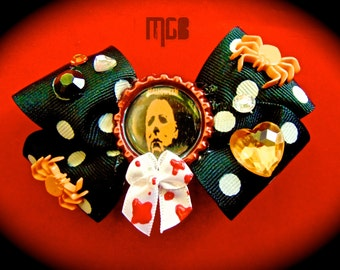 MICHAEL MEYERS Bottle Cap Hair Bow Clip by MGB