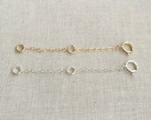 2 inch 14k Gold Filled OR Sterling Silver Extender | Chain Extender