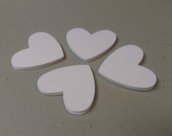 Heart Die Cut Shapes, Paper Hearts, Heart Shaped Love Notes, Valentine's Day, Wedding