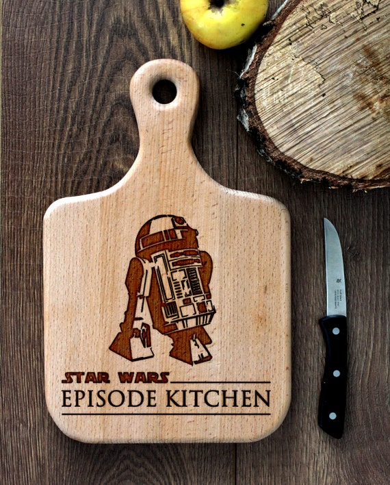 Stars Wars cutting board -  R2D2 Wooden Cutting Board Laser Engraved - Personalized Engraved Cutting Board