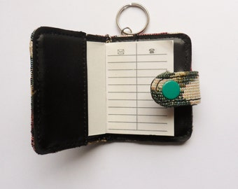 Key Ring Address Book, Tapestry Cloth Covered Key Ring Book