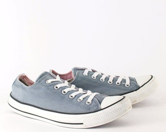 Vintage 1990's Converse All Star Lo Trainers Blue Women's UK 7 EU 40 US 9