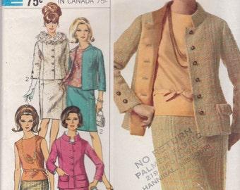 1960s Suit Pattern Simplicity 6958 Size 14