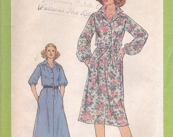 Button Front Dress Pattern Simplicity 8679 Size 16