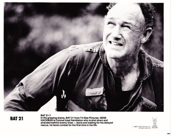 1988 Vintage Gene Hackman 8x10 Black and White Promotional Photograph - BAT 21