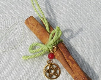 Cinnamon Yule Ornament with Pentagram
