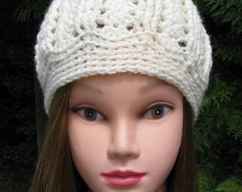 Womens crochet hat, White Crochet ribbed beanie, crochet hat, beanie, Boho hat, ladies hat, womens crochet cap,women beanie cap, womens hat