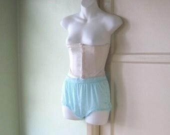 XS Vintage Beige Underbust Corset/Waist Cinch~Boudoir Costume Burlesque Midcentury Corset; Free Shipping/U.S.