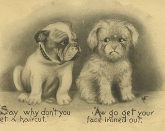 Humorous Dog Postcard - 1911 Vincent Colby Pet Series PC #5464