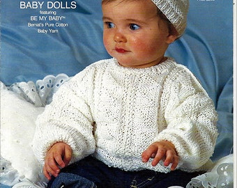 Baby Sweaters and Pant patterns to Knit From Bernat Book no 621