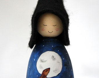 Cornish Pixie Elf Moon Gazing Hare