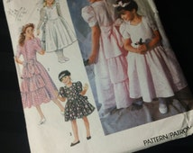 Simplicity Pattern 7079 ~ Child's Dress in Two Lengths ~ Vintage 1990 Cut Girls' Flower Girl Confirmation Sewing Pattern ~ Size 2 3 4 5 6 6X