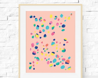 Confetti Art Print - Wall Poster - Geometric Art - Modern Poster