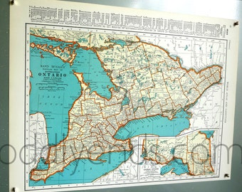 1939 Ontario Atlas Map