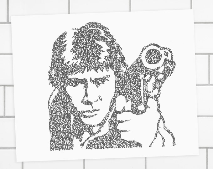 Han Solo - In His Own Words! Han's Greatest Lines Are Used in This Image. A Limited Edition Print of a Hand-lettered Image