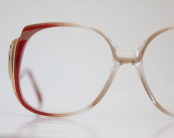 Vintage 70's Rouge Drop Arm Eyeglasses Frames